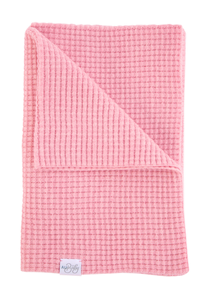 Organic plant dyed baby blankets. Luxury merino baby blanket made in the USA. Best baby shower gift. Sustainable, ethically made baby blanket. Non-toxic pink baby blanket.