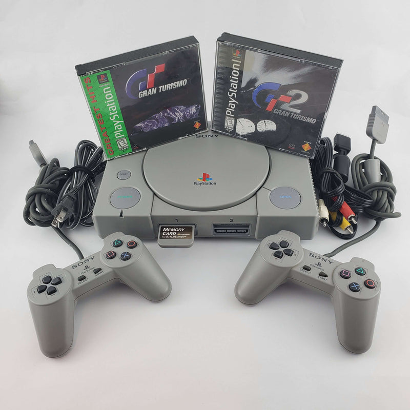 Playstation 1 Console Bundle: Gran Turismo 1 & 2 | Retrolio Games