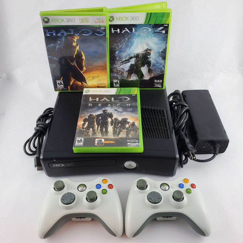 Xbox 360 Console Bundle: Halo 3, 4 & Reach | Retrolio Games