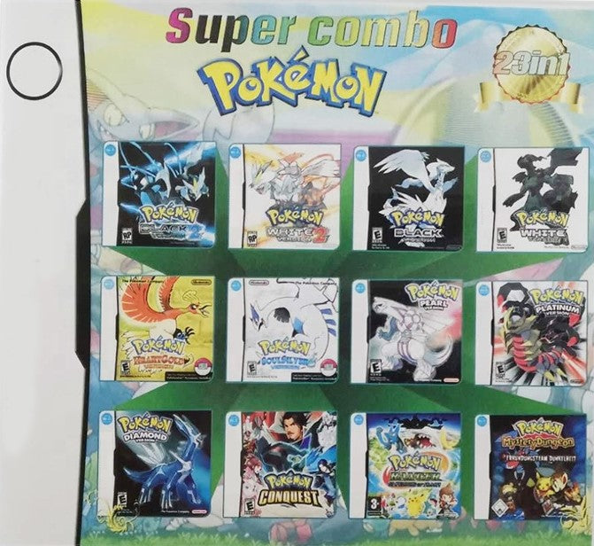 Nintendo DS Pokemon Super Combo - 23 Pokemon Games