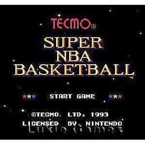 Tecmo Super NBA Basketball - SNES Game | Retrolio Games