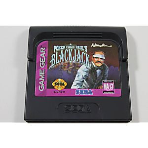 Poker Face Paul's Blackjack - Game Gear Game