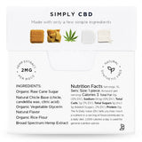 CBD Chewing Gum- 2mg Hemp Extract per Piece. All Natural. Synthetic Free