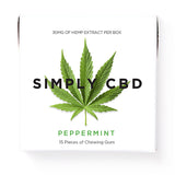 Simply CBD Chewing Gum with Broad Spectrum Hemp Extract- Peppermint Flavor