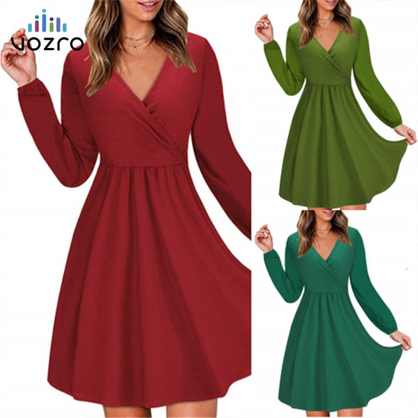 Long Sleeve Sexy Winter Party Dress
