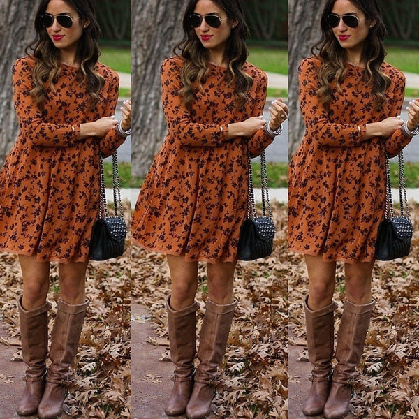 Long Sleeve Dress Female Autumn and Winter