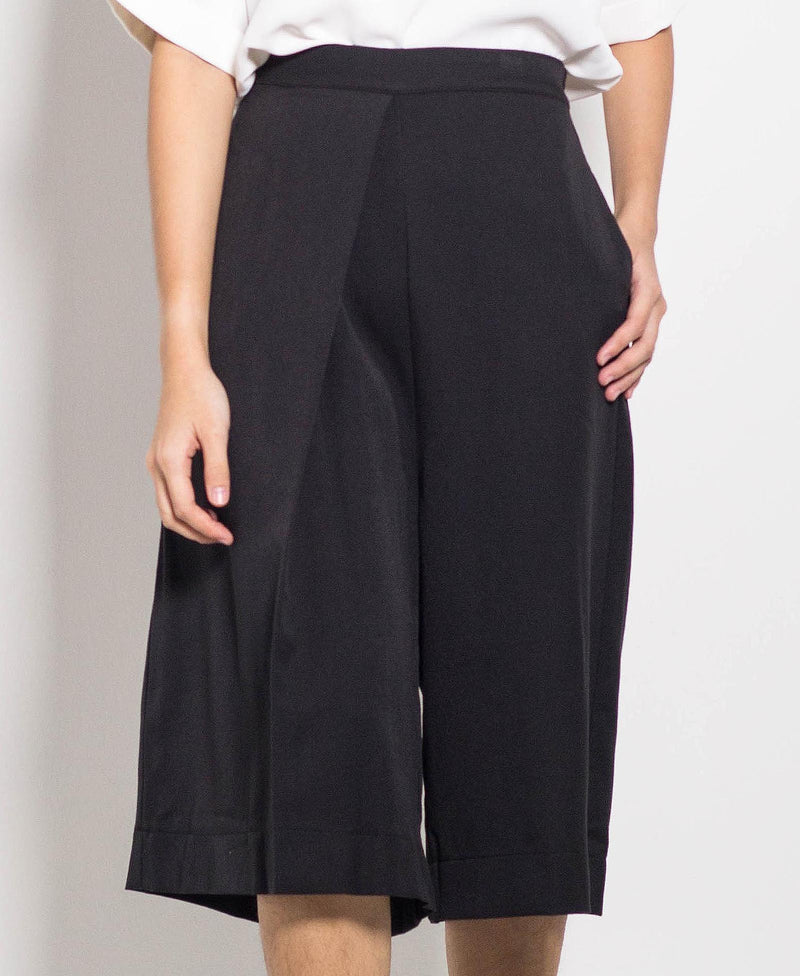 Women Culottes Pants - Black