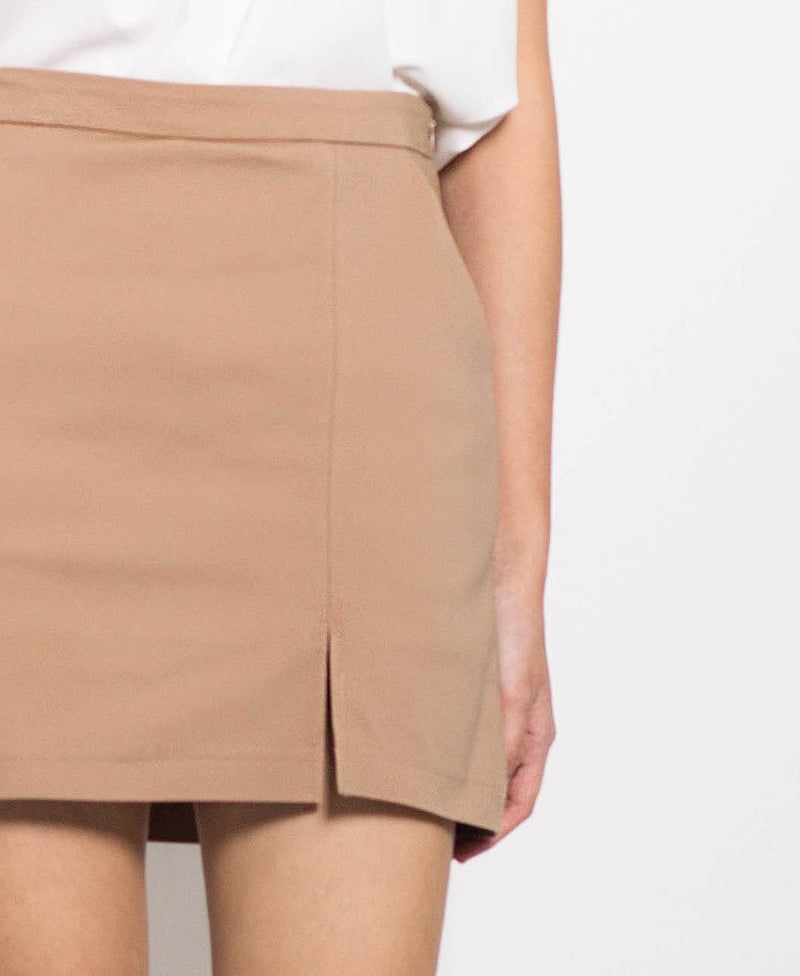 Women Short Skirt - Khaki