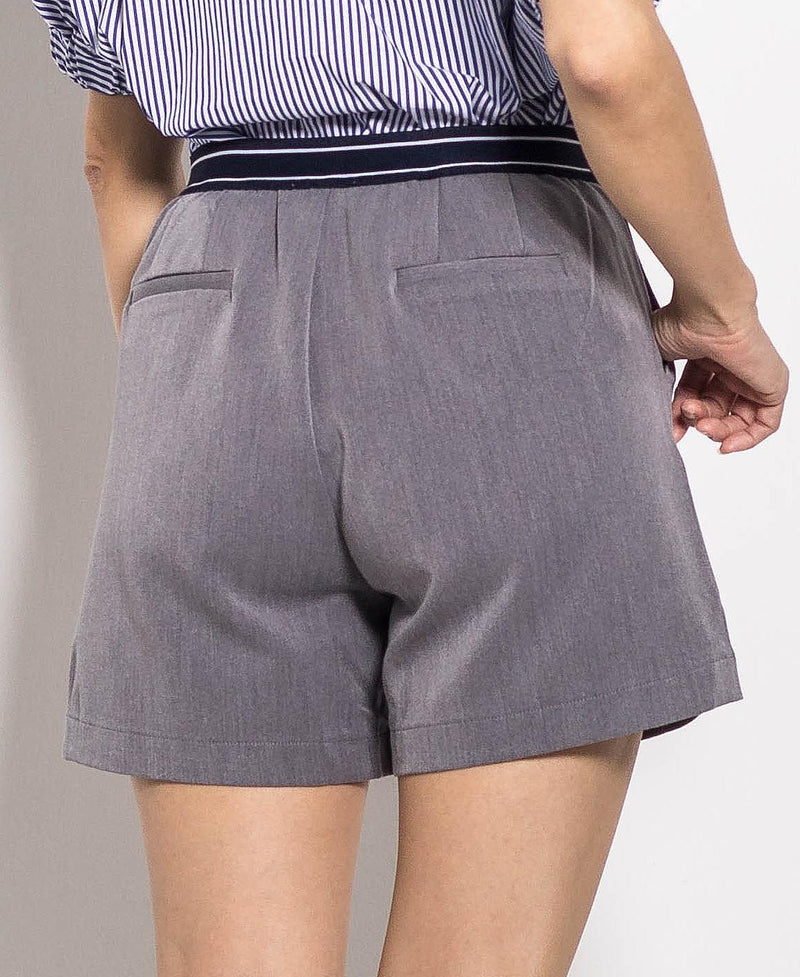 Women Short Pants - Dark Grey - H0W741