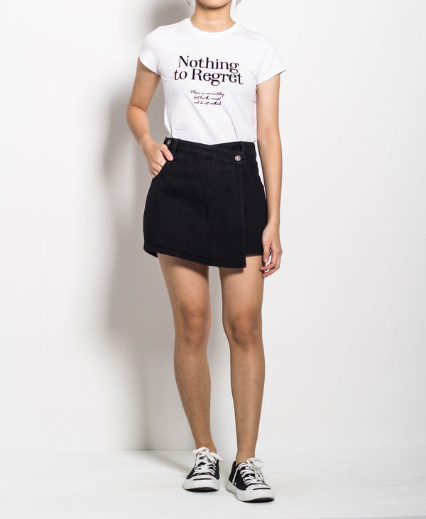 Women Overlap Skort - Black
