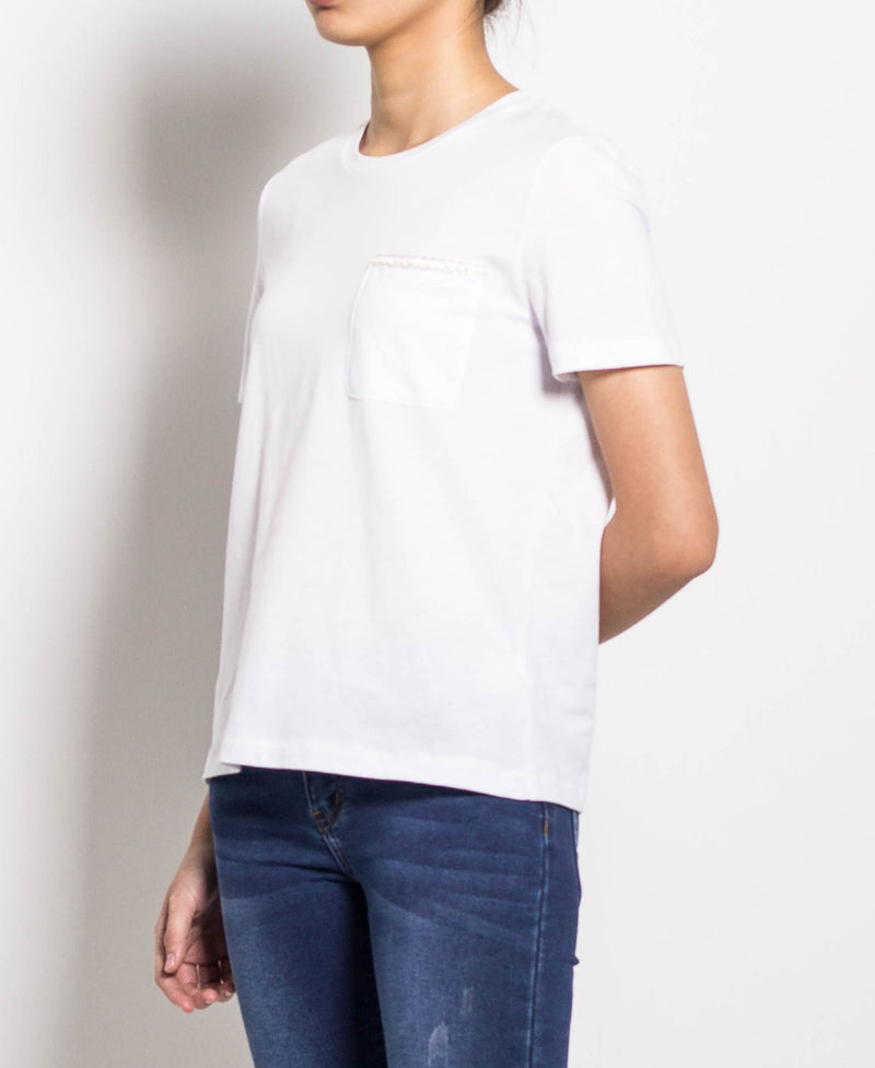 Women Short Sleeve Tee - White