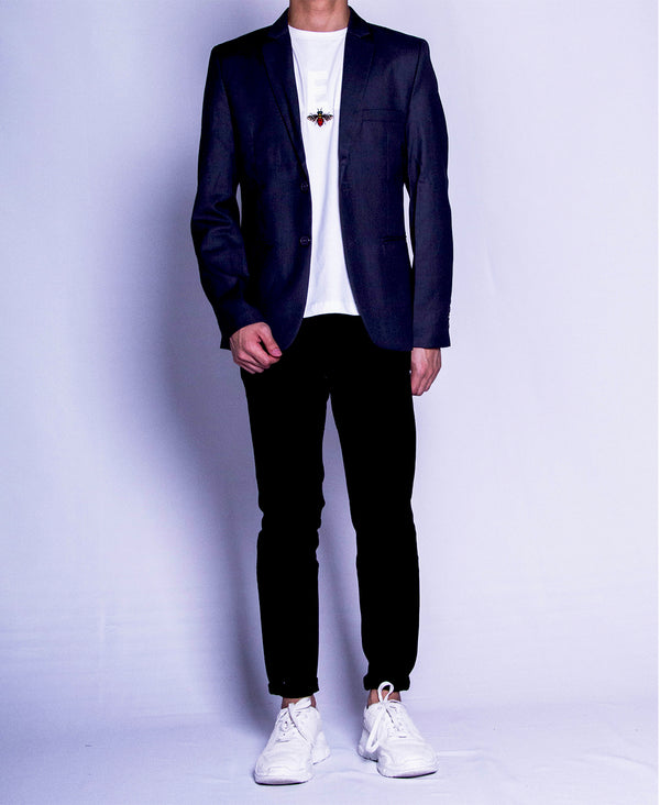 Men Blazer - Grey