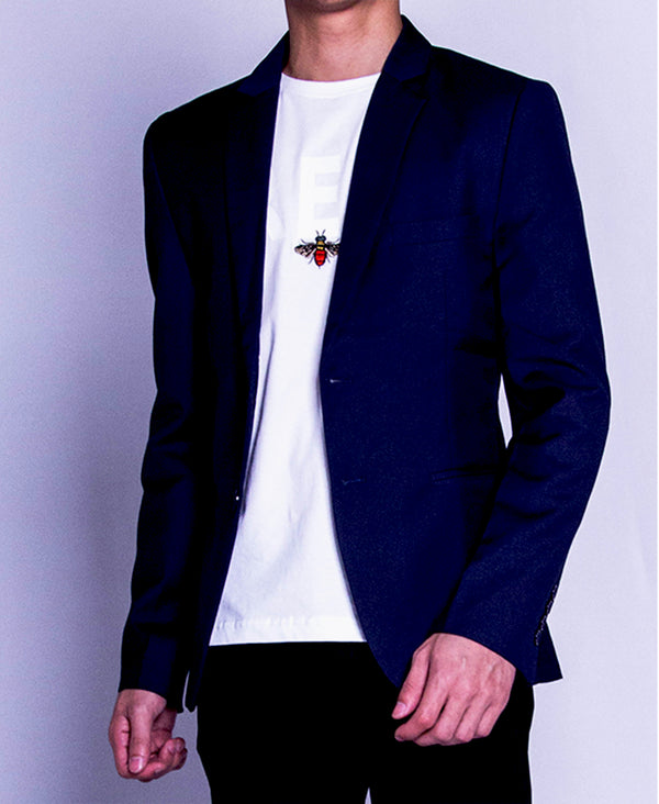 Men Blazer - Navy - F9M145