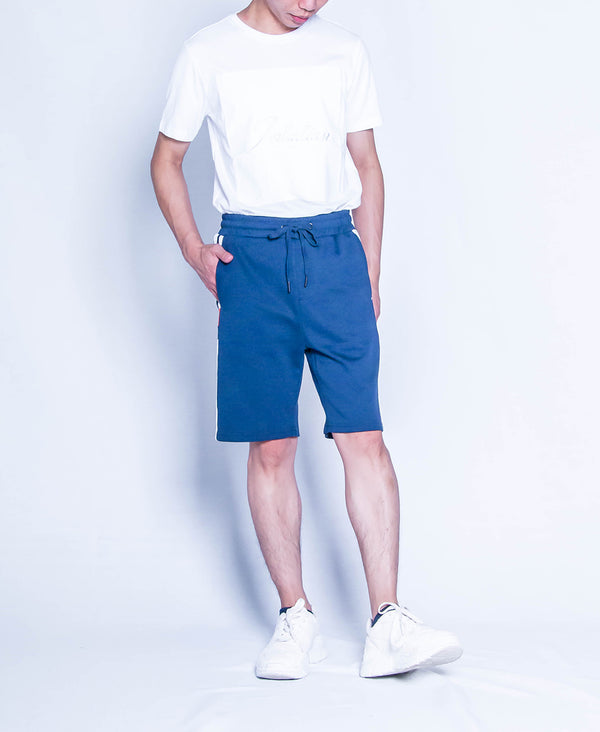 Men Knit Short Jogger - Navy