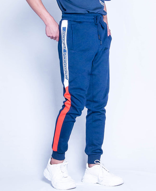 Men Knit Long Jogger - Navy