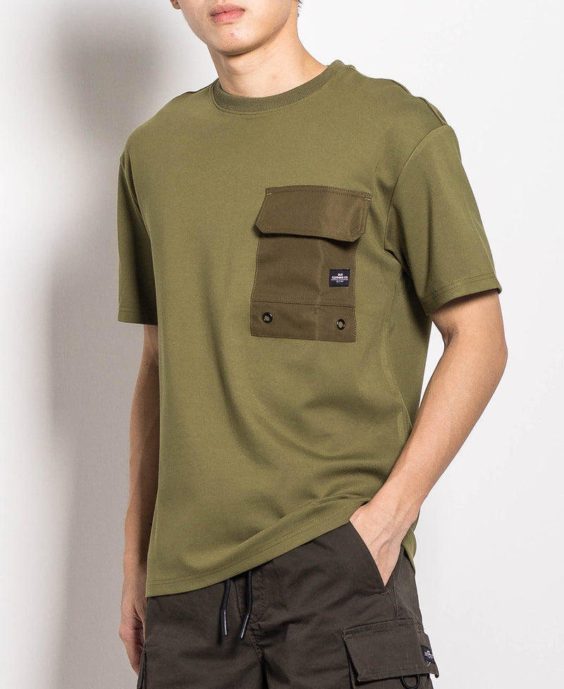 Men Fashion Tee - Army Green