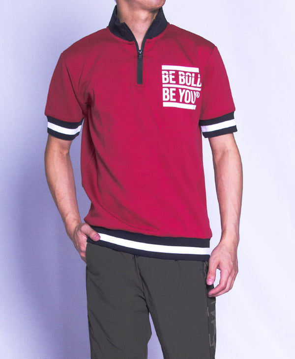Men Short Sleeve Knit Wear - Red