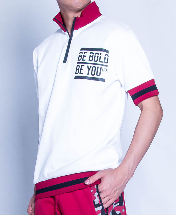 Men Short Sleeve Knit Wear - White