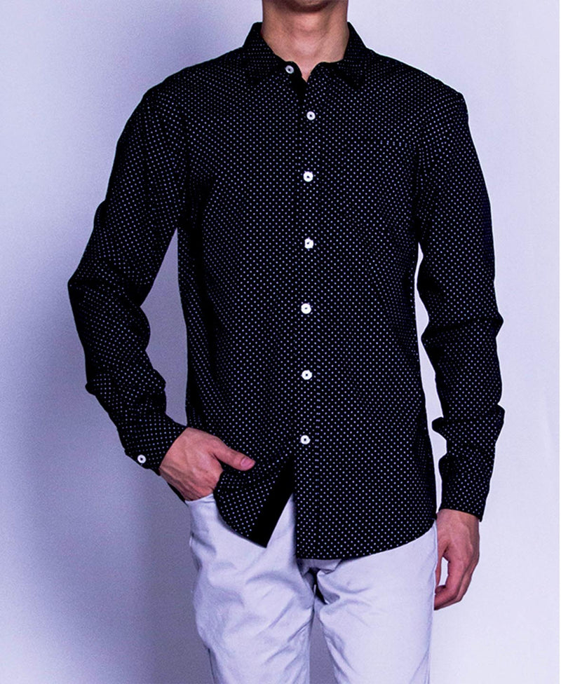 Men Long Sleeve Shirt - Black