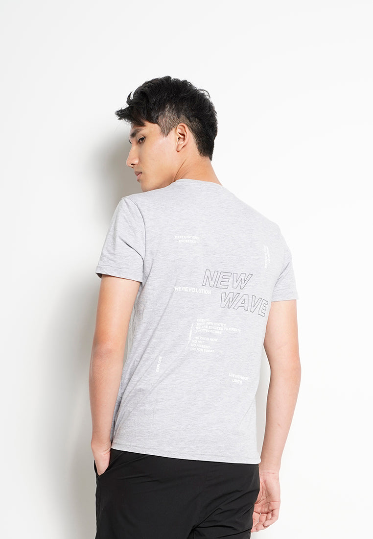 Men Short-Sleeve Graphic Tee - Grey