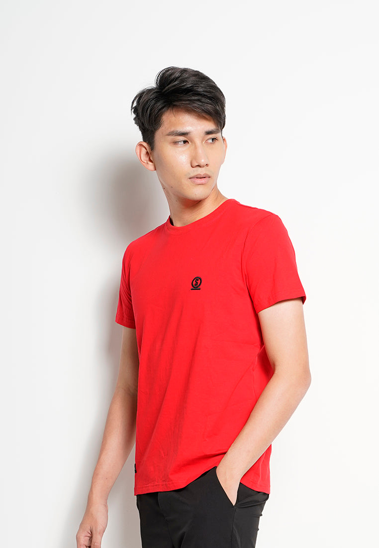 Men Short-Sleeve Graphic Tee - Dark Red