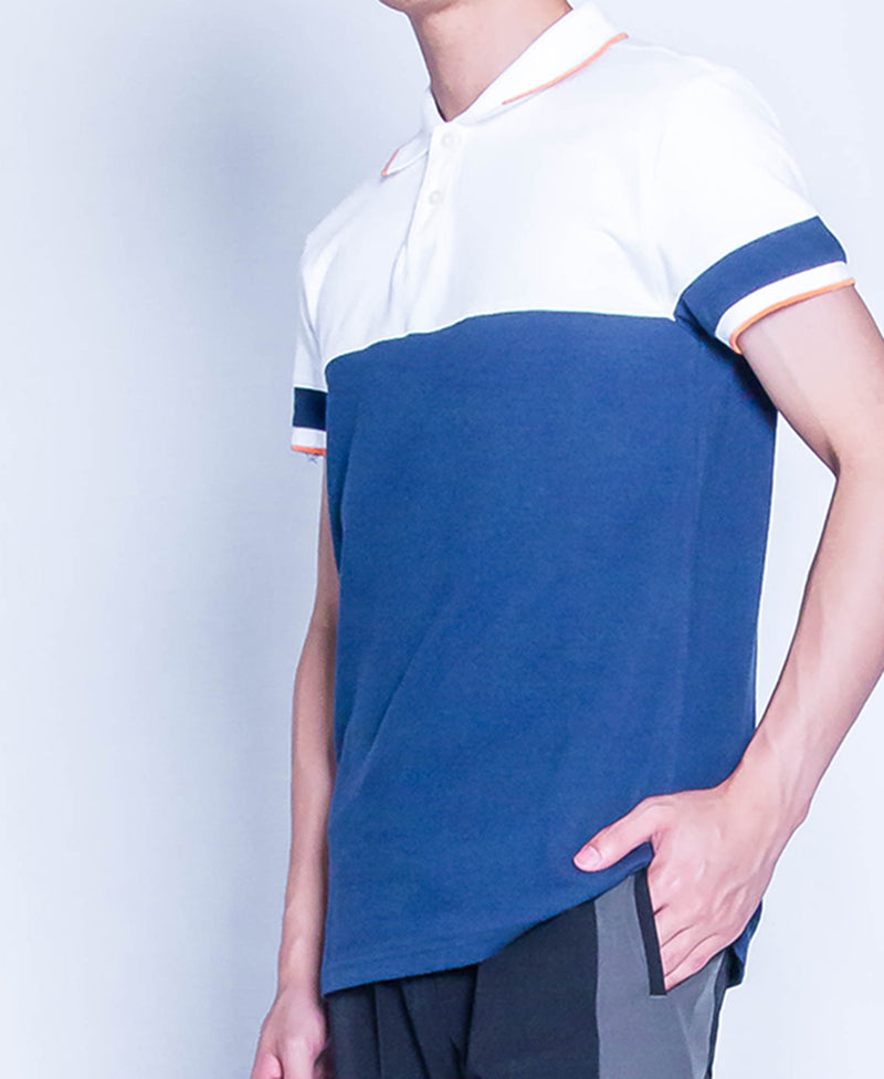 Men Fashion Polo Tee - Navy
