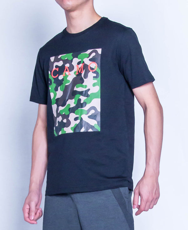 Men Graphic Tee - Black