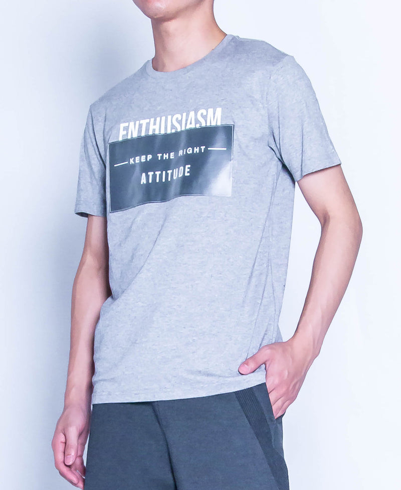 Men Graphic Tee - Grey