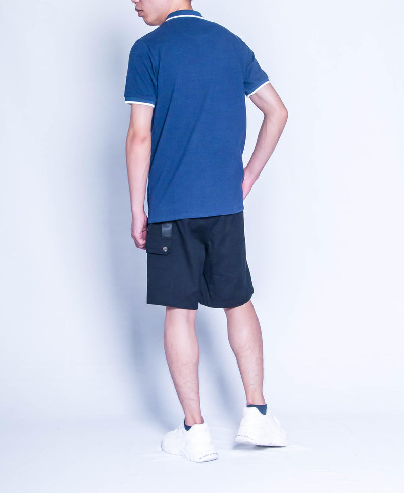 Men Fashion Polo Tee - Navy-H9M294