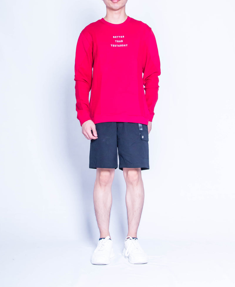 Men Oversized Sweatshirt  - Maroon