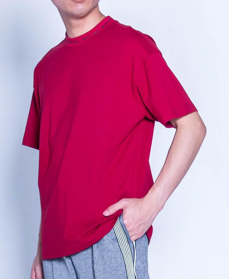 Men Oversized Fashion Tee - Red - H9M320
