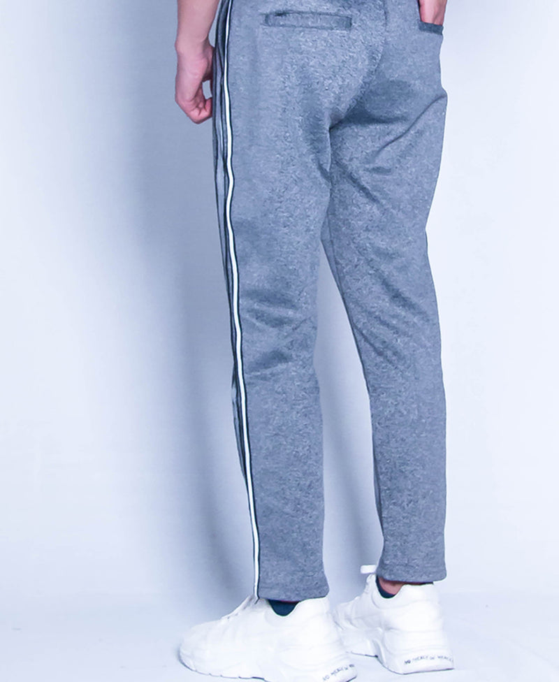 Men Knit Long Jogger - Dark Grey