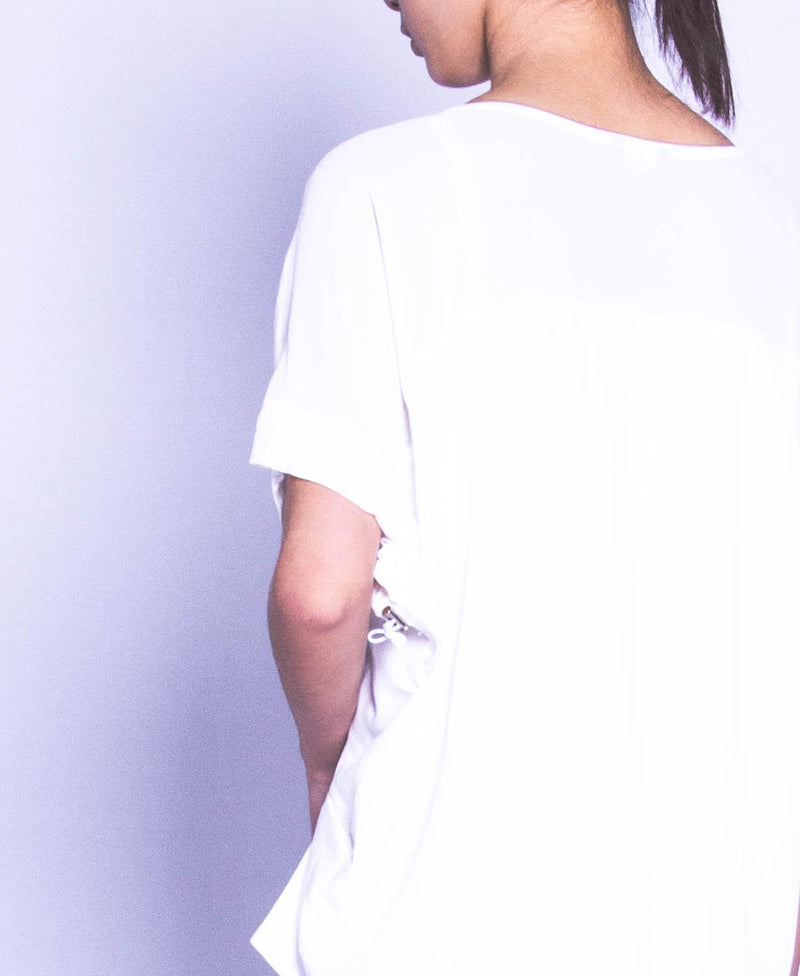 Women Short Sleeve Fashion Tee - White