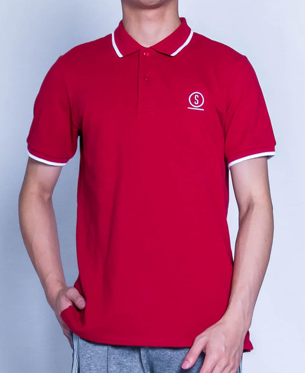 Men Fashion Polo Tee - Red