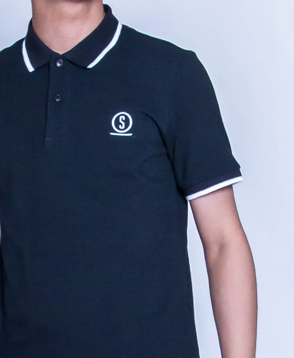 Men Fashion Polo Tee - Black