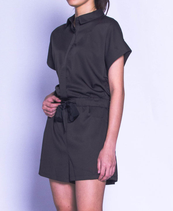 Women Short Jumpsuit - Black