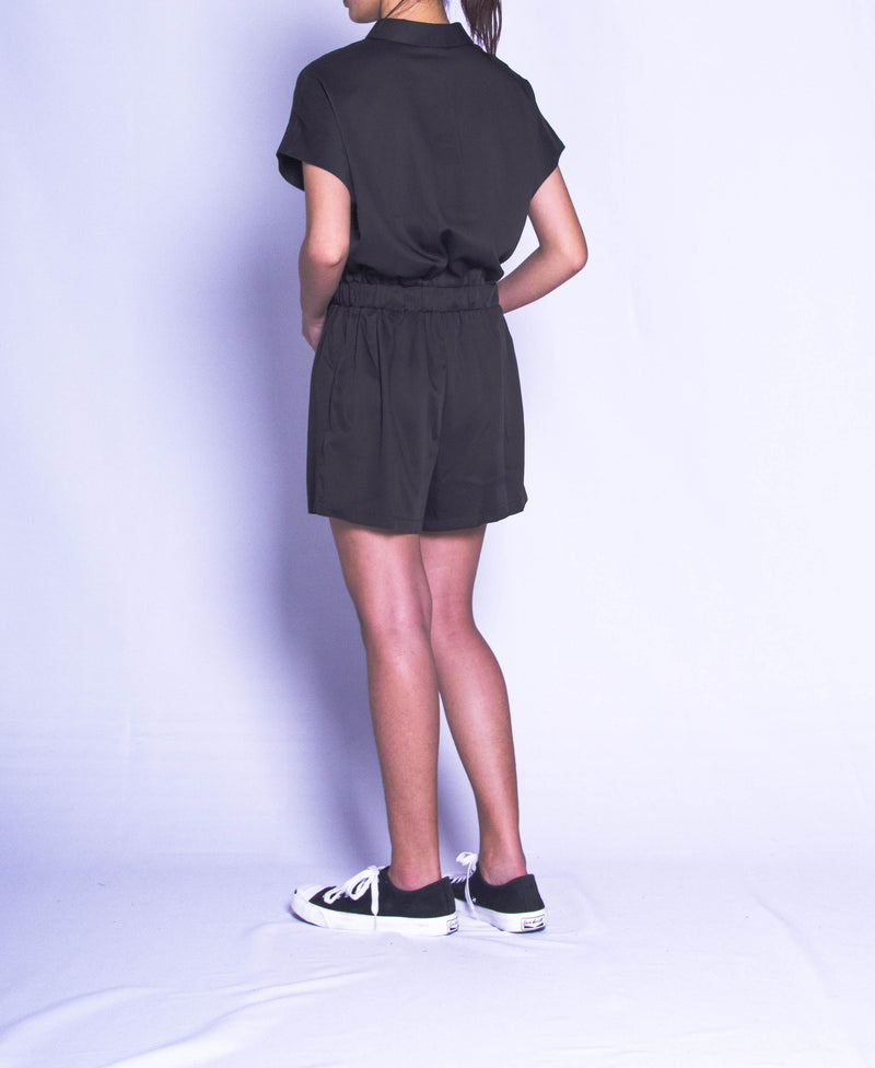 Women Short Jumpsuit - Black - H9W307