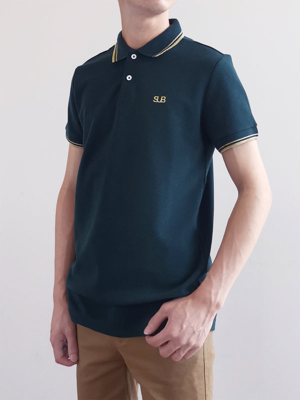 Men Basic Polo Tee - Green