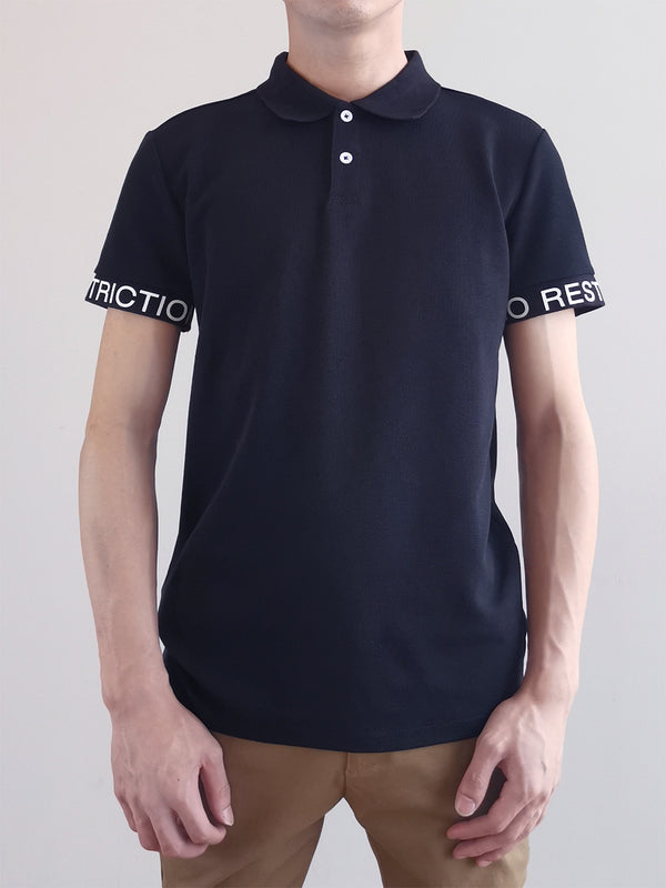 Men Fashion Polo Tee- Black