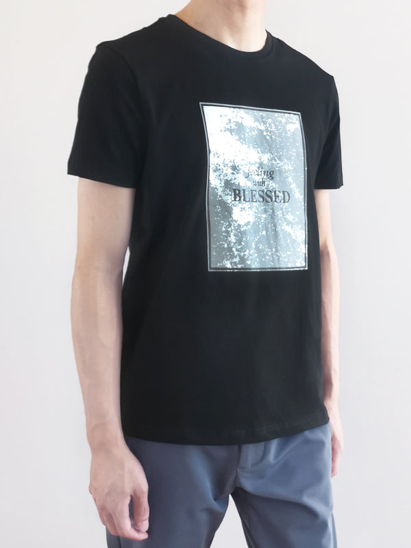 Short Sleeve Graphic Tee - Black