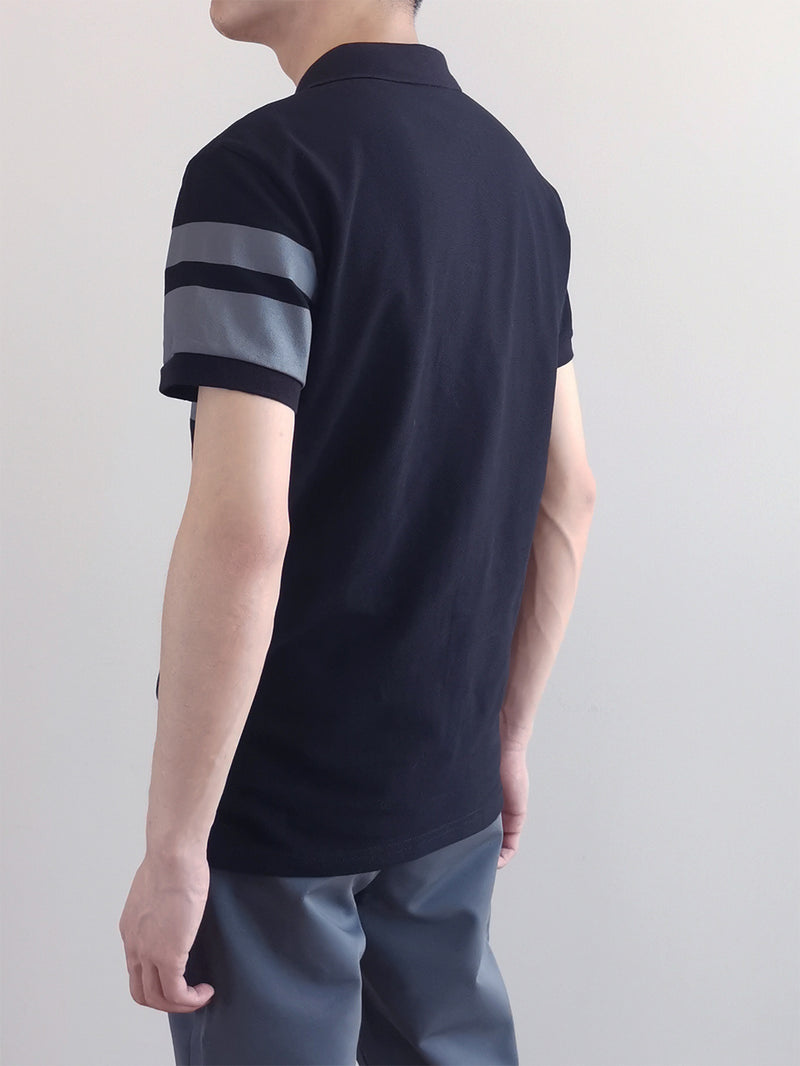 Men Fashion Polo Tee- Black-M0M476