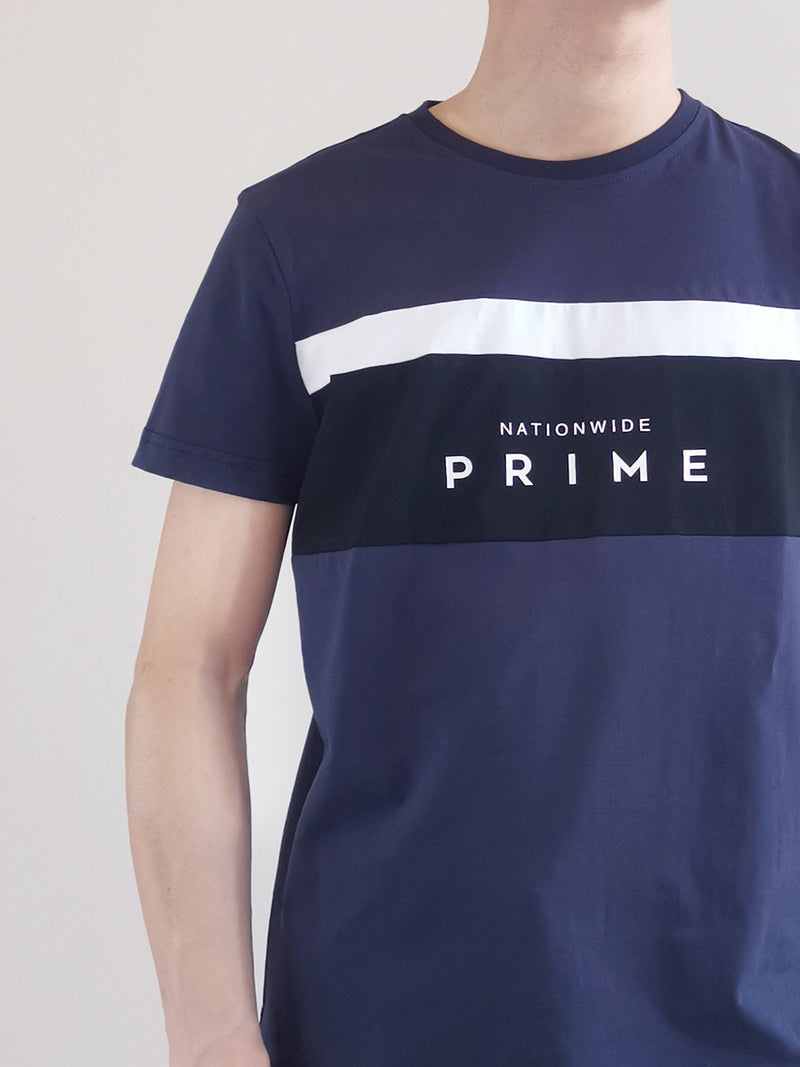 Men Short Sleeve Graphic Tee - Navy