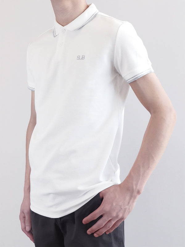 Men Basic Polo Tee - White