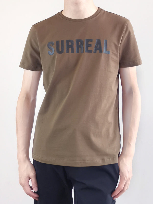 Men Short Sleeve Graphic Tee - Army Green