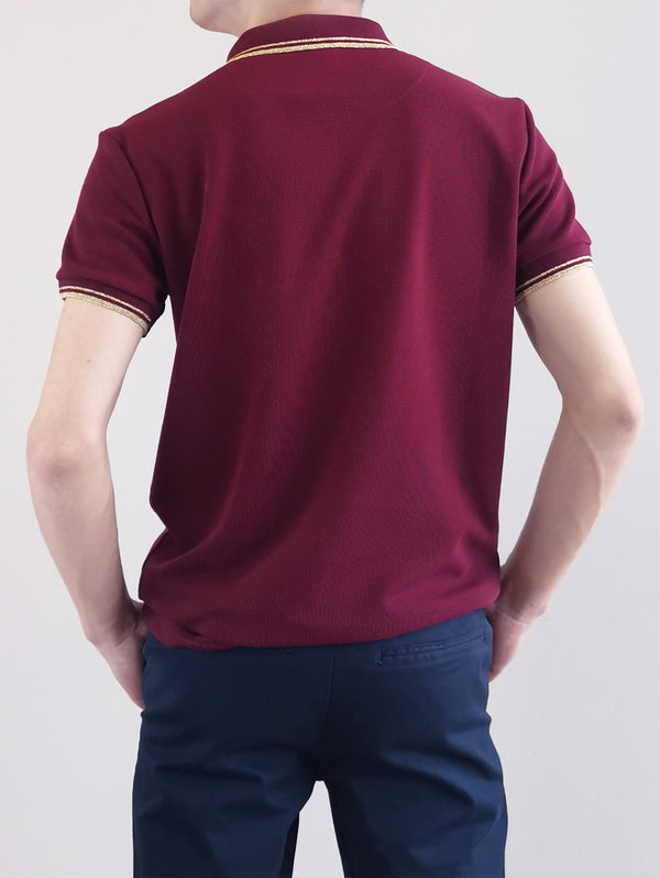 Men Basic Polo Tee - Maroon