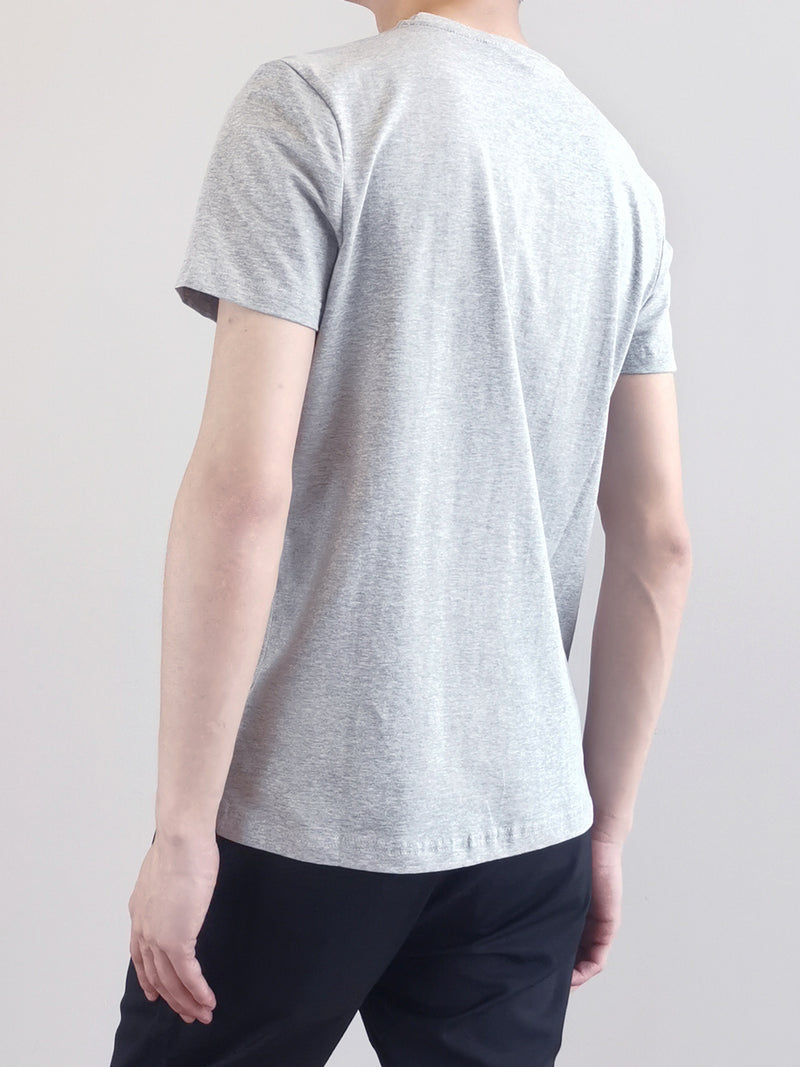 Men Short Sleeve Graphic Tee - Grey - M0M461