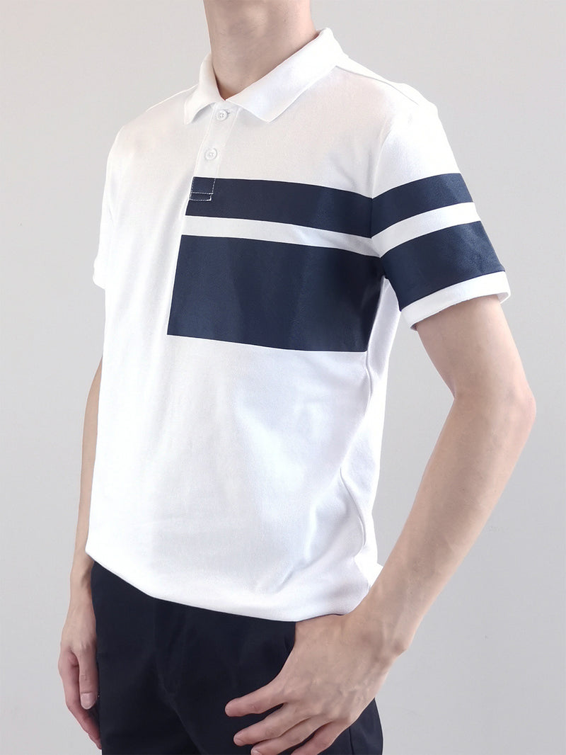 Men Fashion Polo Tee- White-M0M477