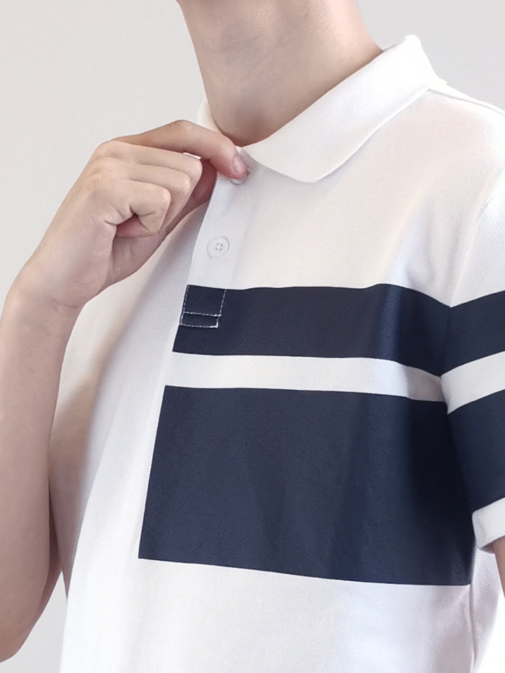 Fashion Polo Tee- White