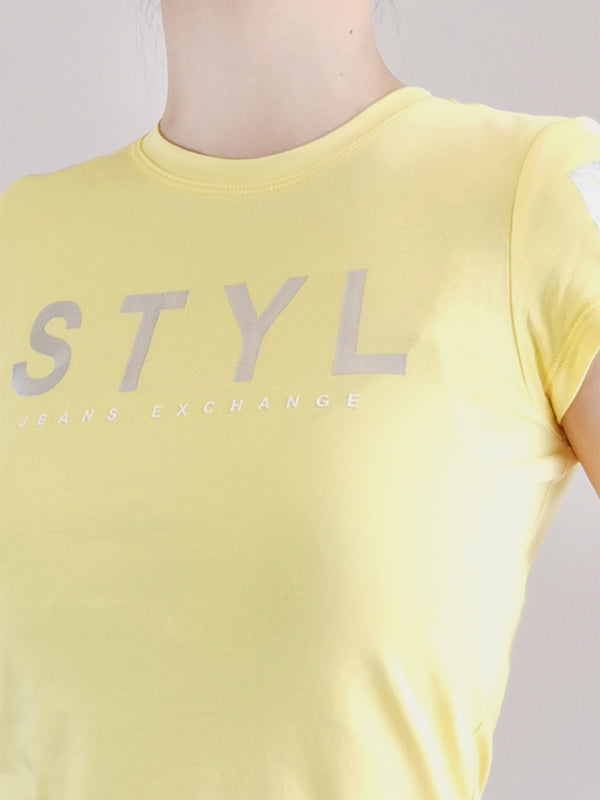 Graphic Tee- Yellow