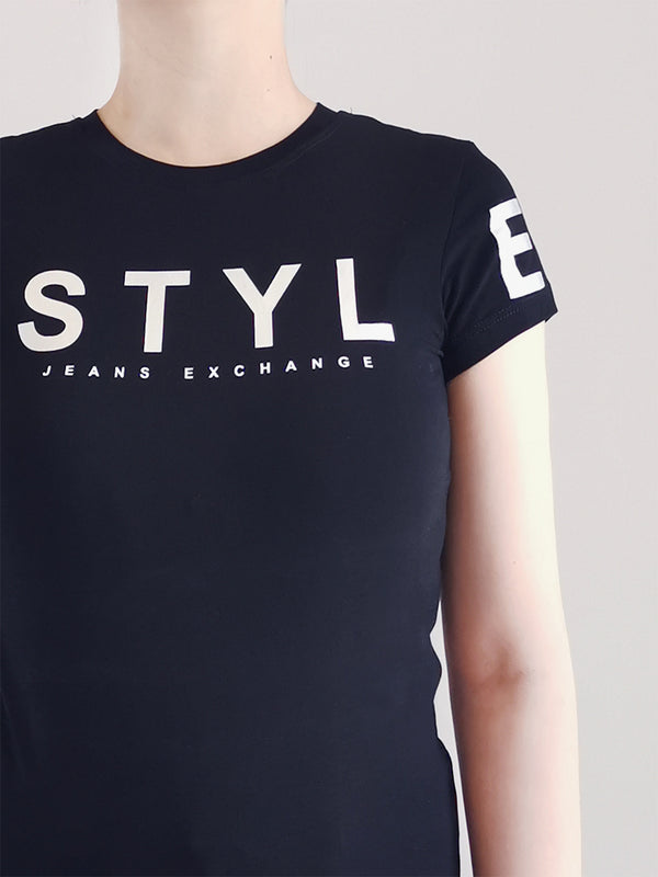 Women Graphic Tee- Black